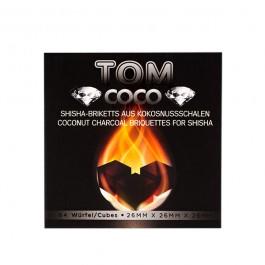 Уголь кокосовый Tom Cococha Diamond - 1кг (64 кубика)