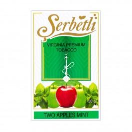 Serbetli Two Apple Mint (Двойное Яблоко Мята) - 50 грамм